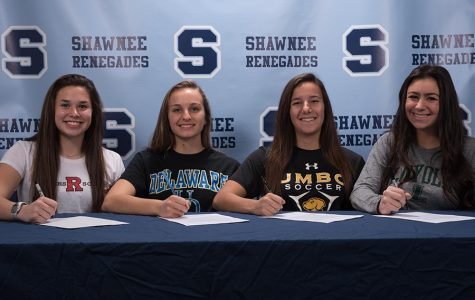 Shawnee Girls Soccer Players Sign Letters of Intent on National Signing Day