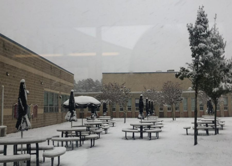 The Shawnee courtyard in the aftermath of Winter Storm Avery. Photo credits: Erika Adamson