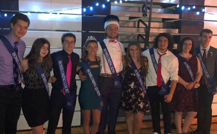 2018 Homecoming Court: Jay Bell, Maggie McNeil, Luke Anderson, Madison Connolly, Joey Dalsey, Karlye O'Neil, Jake Vodovoz, Olivia Marr, and Aidan Pembleton (via @shawneehsnj on Instagram)