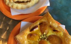Apple turnover and apricot tart